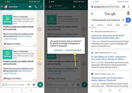 Whatsapp Busqueda Internet Mensajes Reenviados Fake News