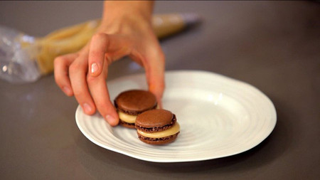 Receta de Macarons de chocolate