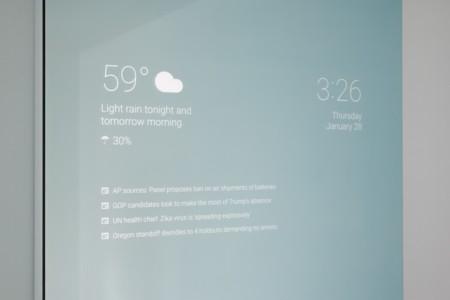 Así es el espejo con Android que nos ayudará a iniciar el día guapos y bien informados