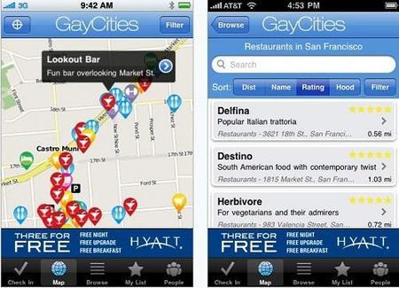Aplicación del iPhone para el colectivo gay