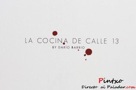 Menú Calle 13 en el Hotel Room Mate Óscar
