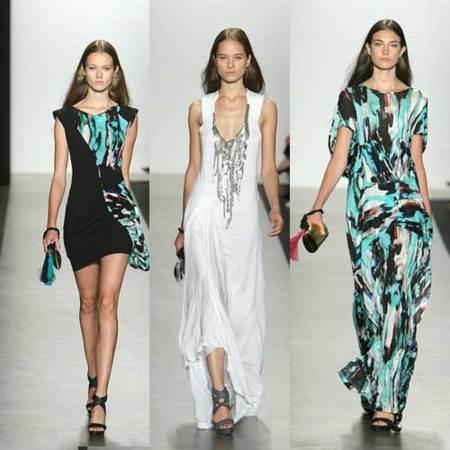 BCBG Max Azria Primavera-Verano 2010 en la Semana de la Moda de Nueva York
