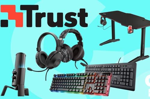 Nueva selección de ofertas de Amazon en periféricos gaming y de trabajo Trust: equípate a los mejores precios en teclados, auriculares, micrófonos o mesas para gamers