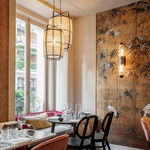 Nebo Studio diseña el restaurante asiático de lujo, Green Tea Lagasca, con molduras Orac Decor® y papel pintado