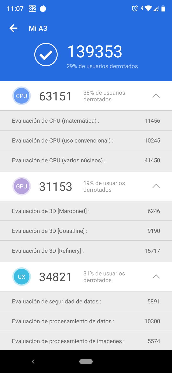 Foto de Benchmarks del Xiaomi Mi A3 (3/6)