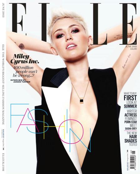 Miley Cyrus Elle portada