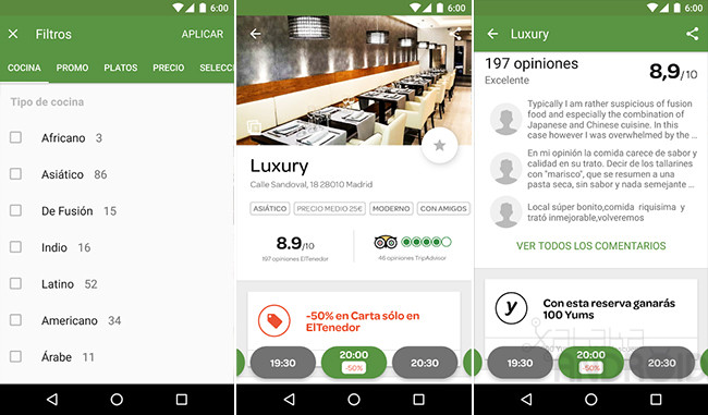 top 5 apps zu restaurants in android finden phoneia. Black Bedroom Furniture Sets. Home Design Ideas