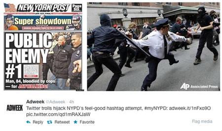 """La estrategia fotográfica en las redes sociales de la policía de Nueva York acaba """"explotándoles"""" en la cara"""