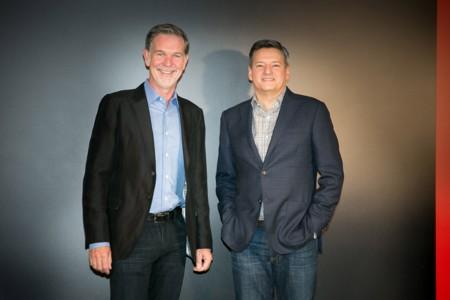 Netflix Izda Reed Hastings Co Fundador Y Ceo De Netflix Y Ted Sarandos Director Jefe De Contenidos De Netflix