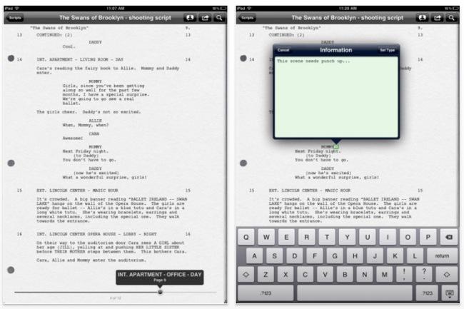 Final Draft Reader para iPad