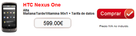 Un distribuidor autorizado de Vodafone saca el Nexus One, pero a un precio contradictorio