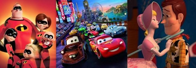 Imágenes de Los Increíbles, Cars y Toy Story