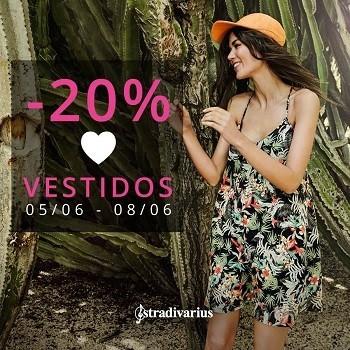 20 % de descuento en vestidos de Stradivarius hasta el domingo