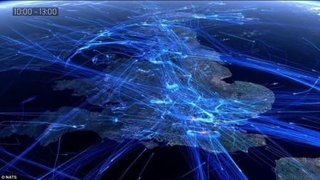 Vídeo: todos los vuelos europeos de un día condensados en solo dos minutos visualmente espectaculares