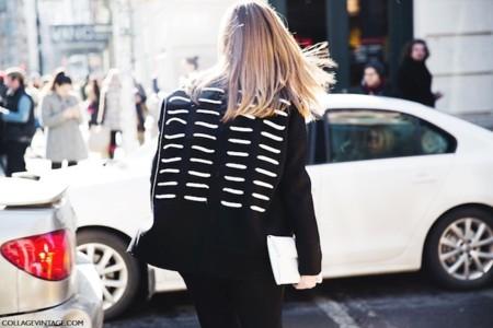 chaqueta espalda rayada
