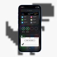 Jugar al dinosaurio de Google Chrome en un widget del iPhone, con esta app es posible