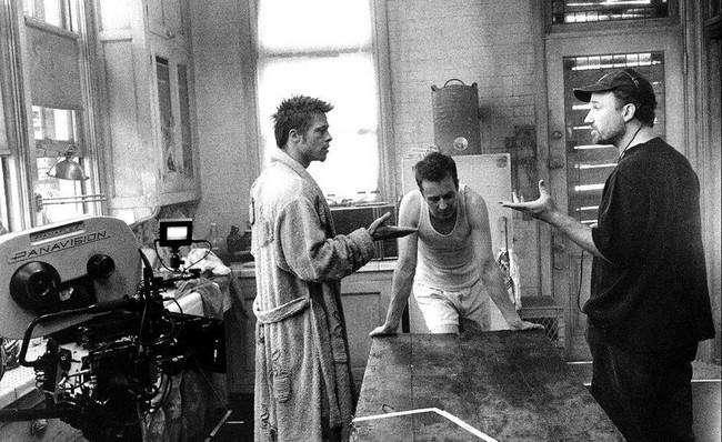 Brad Pitt, Edward Norton y David Fincher