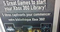 Los canadienses podrán adquirir un pack de Xbox 360 con cinco juegazos en su interior