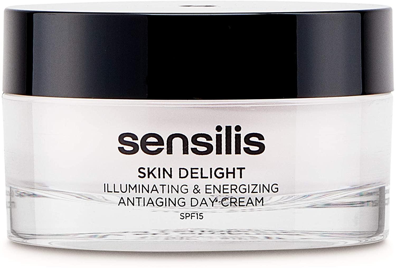Sensilis Skin Delight - Crema de Día Antiedad Iluminadora y Energizante con SPF15