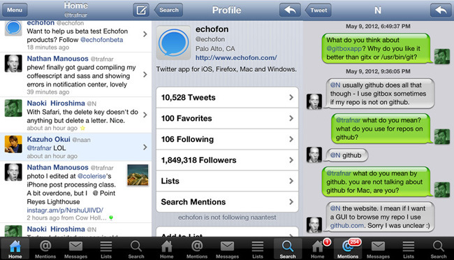 Cliente twitter - echofon