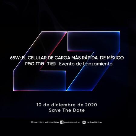 Realme 7 Pro Evento Lanzamiento Mexico 10 Diciembre