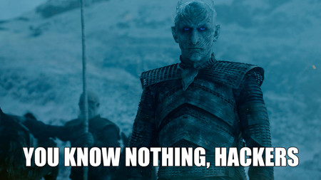 Night king meme spoilers hackers hbo