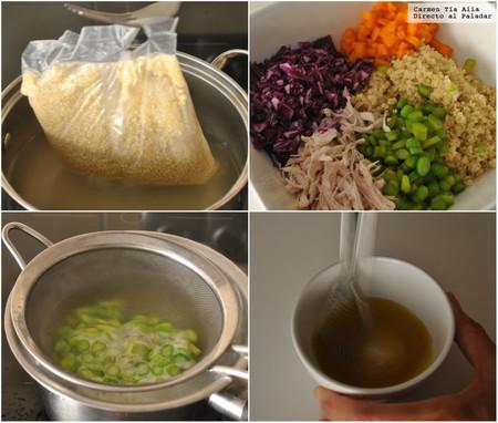 Paso A Paso Ensalada De Quinoa Con Pollo Y Verduras