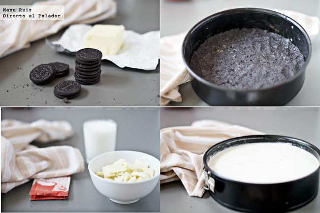 Tarta chocolate blanco paso a paso