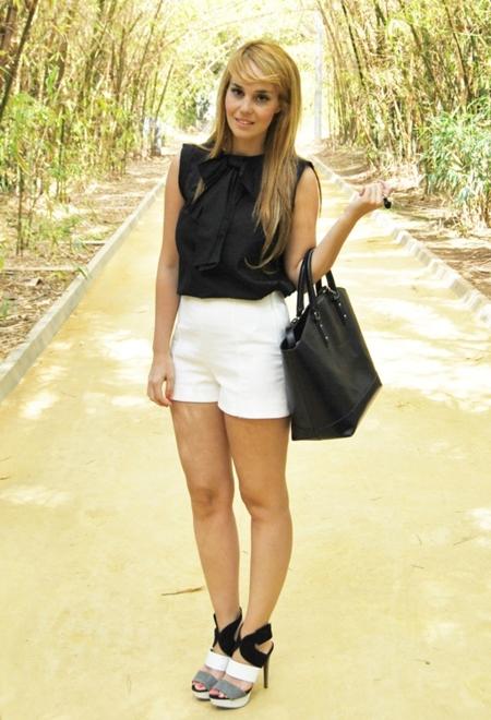 blanco y negro shorts