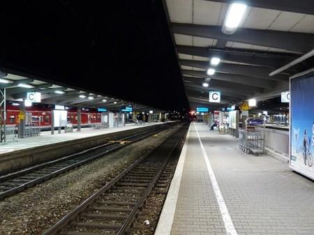 Transporte público - andén de tren