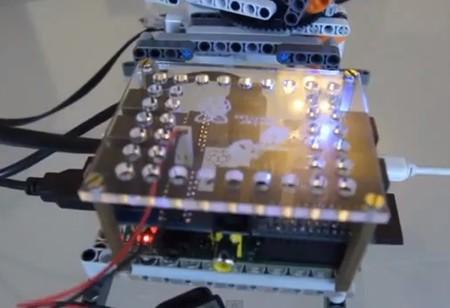 BrickPi y Raspberry Pi en funcionamiento