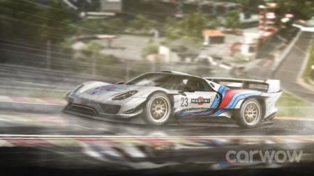 Imaginando coches de calle vestidos con decoraciones míticas para Le Mans