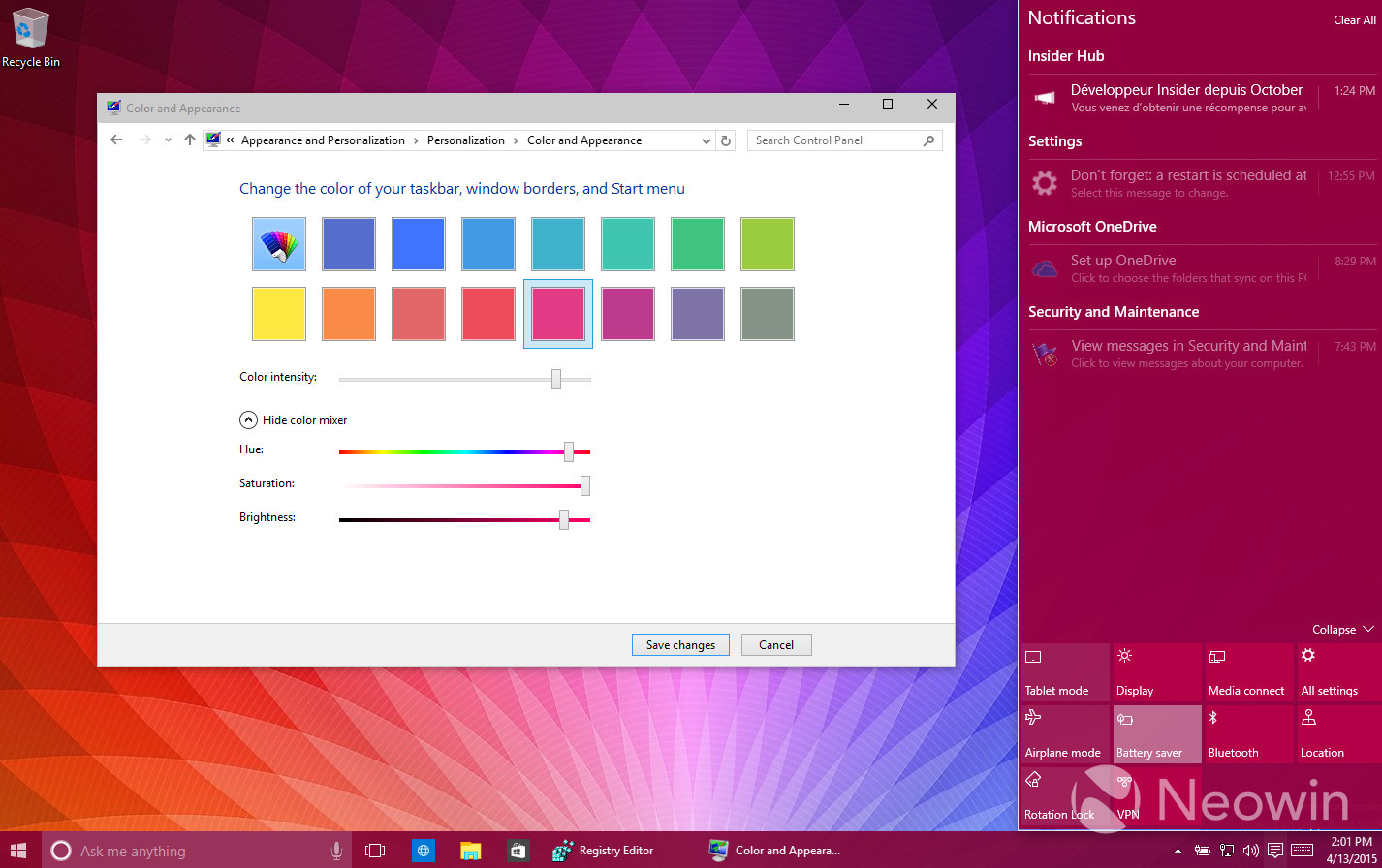 Foto de Temas de colores en Windows 10 build 10056 (12/16)