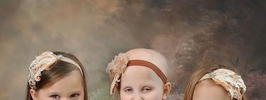 Tres niñas que han sobrevivido al cáncer recrean una foto viral tres años después