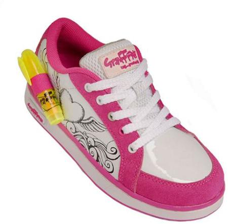 Zapatillas Graffeeti Shoes, para que los niños las dibujen