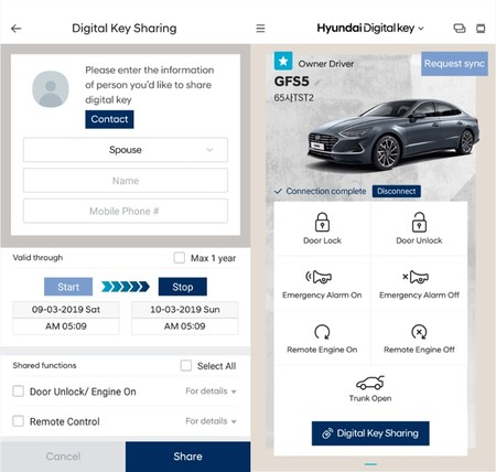 Llave Digital Hyundai Sonata 2020 3