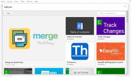 Google Drive ya tiene complementos de terceros