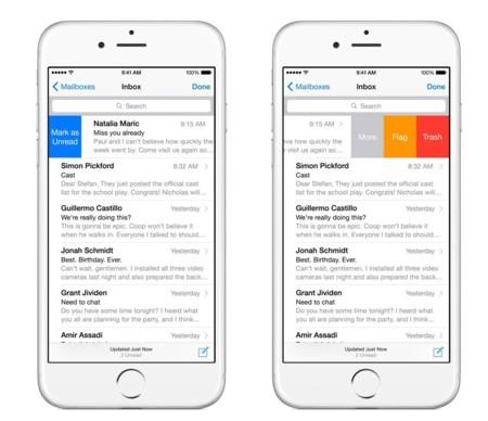 Nuevo Mail en iOS 8