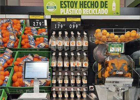 Botellas Recicladas Para El Zumo En Mercadona