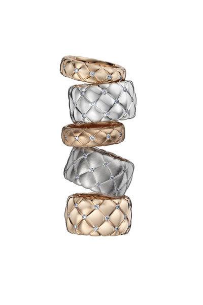 Colección Les Treillages de Fabergé, dos líneas enrejadas para joyas de alta costura