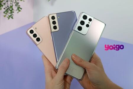 Precios Samsung Galaxy S21, S21+ y S21 Ultra con tarifas Yoigo y ahorro de hasta 359 euros