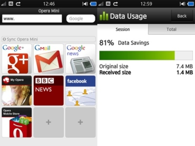 Opera Mini aparece entre las Samsung Apps, ahora también llega a bada