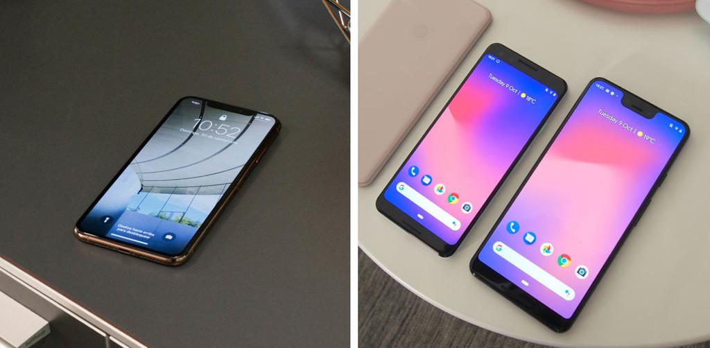 Más allá de la comparativa de los nuevos Pixel 3 de Google contra los últimos iPhone de Apple
