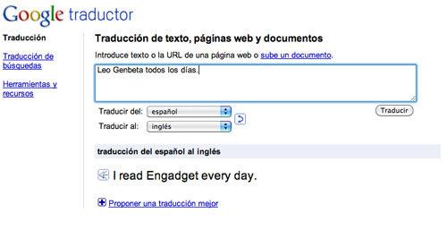 GoogleTranslatetraduceinstantáneamente