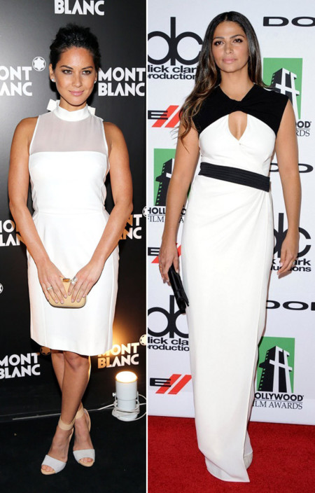 Olivia Munn Camila Alves look blanco