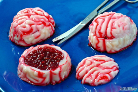 Halloween Gelatinas Cerebros