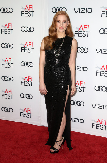 jessica chastain look estilismo outfit alfombra roja
