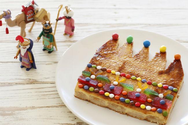 Recetas de navidad para hacer con ni os tarta corona de for Decoracion para reyes