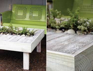 Una buena idea: una mesa para la terraza con plantas incorporadas