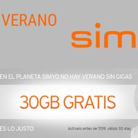 Simyo ofrece 30 GB gratis para disfrutar en verano